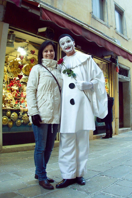 Benátky karneval - šašo