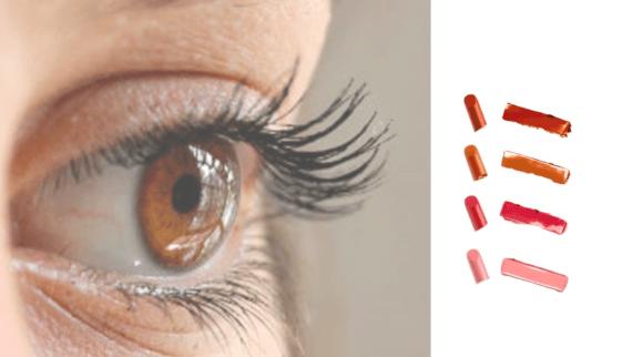 Hnedé oči rúž