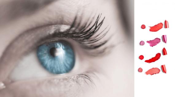 Modré oči rúž