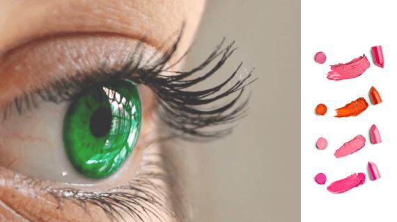 Zelené oči rúž